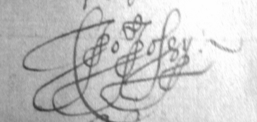 Signature of Robert Jossy